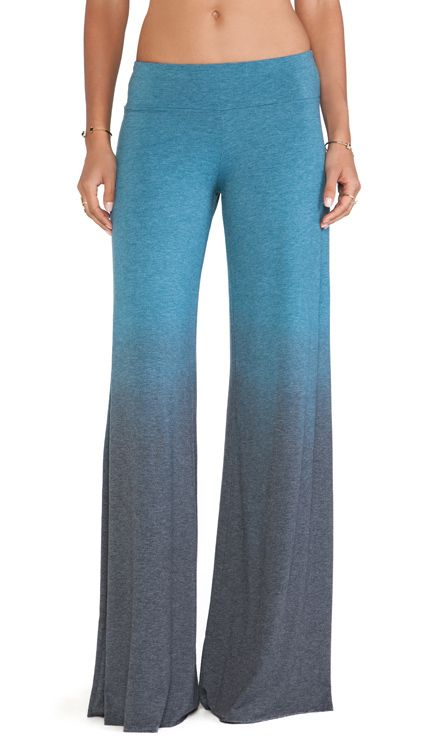 Saint Grace Wide Pant in Teal Ombre Wash