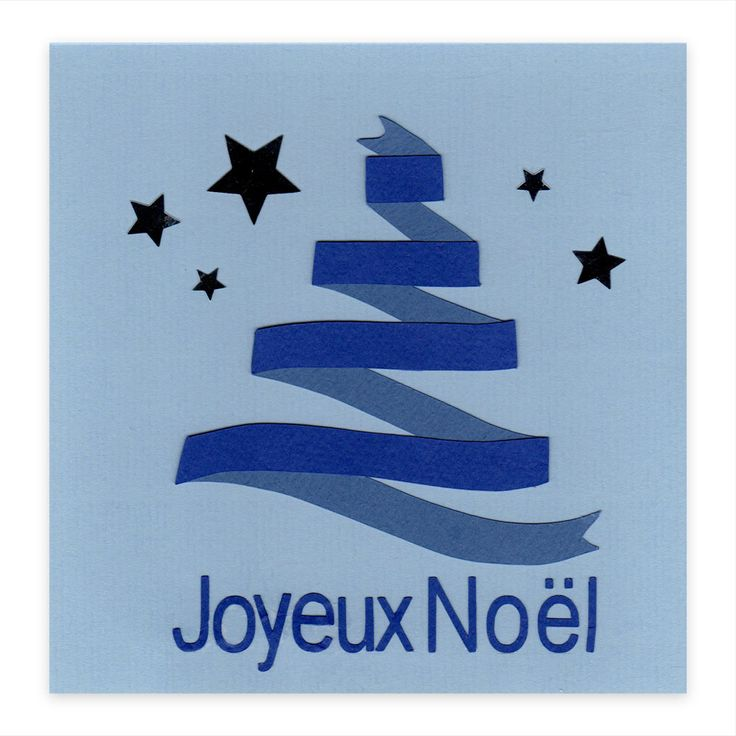 Carte noël Sapin bleu en ruban, Collection Lovely Scrap, Lovely Carte