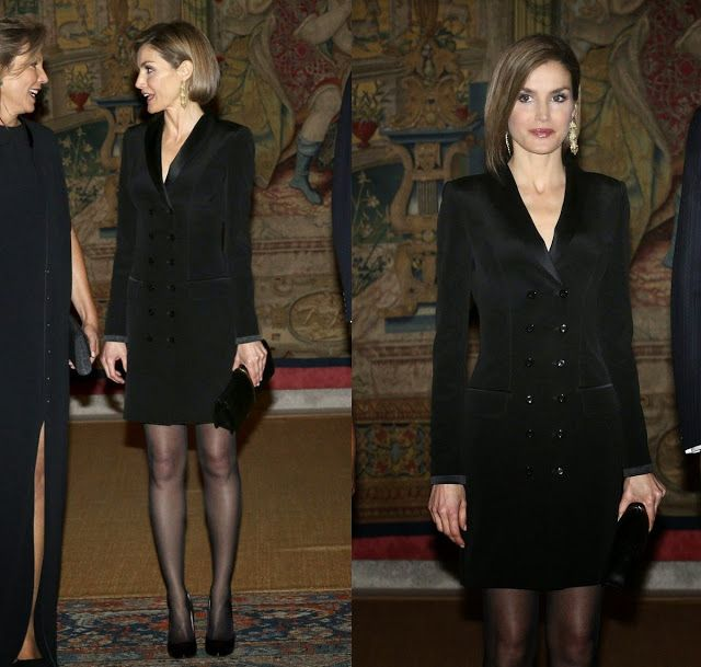 King Felipe VI of Spain and Queen Letizia of Spain attends the official reception of a dinner to Colombian President Juan Manuel Santos and his wife Maria Clemencia Rodriguez held at El Pardo Palace in Madrid, Spain, 03 March 2015.