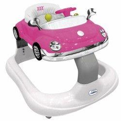 ANDADOR ASALVO BUGGATI: ajustable en altura y con ruedas pivotantes para que tu bebé tenga la mejor maniobrabilidad. Bandeja de juegos con sonido y música. Muy compacto una vez plegado. Asiento extraible y lavable.