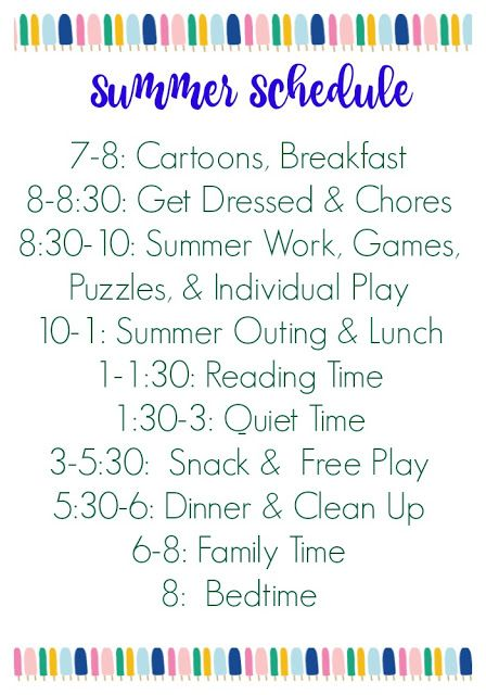 Summer Schedule for Kids (Free Printable) ||| The Chirping Moms