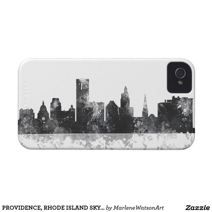 PROVIDENCE, RHODE ISLAND SKYLINE iPhone 4 COVER