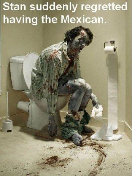 Zombie Style Bathroom Humor! Hahaha so wrong but funny anyway