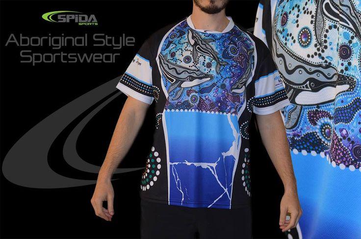 Aboriginal sportswear. Print your own design through us. http://promocorner.com.au/aboriginal-clothing/sublimated-aboriginal-shirts/