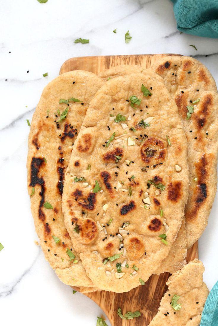 Whole Wheat Naan Bread Vegan Indian Naan Recipe Vegan Richa Recipe Naan Recipe Recipes Recipes With Naan Bread