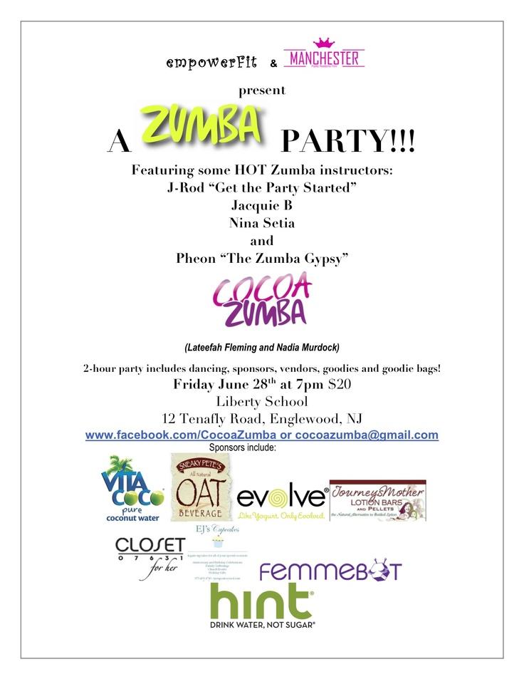 fitness flyers design - Google Search ZUMBA!!!! Pinterest - best of sample invitation letter for zumba