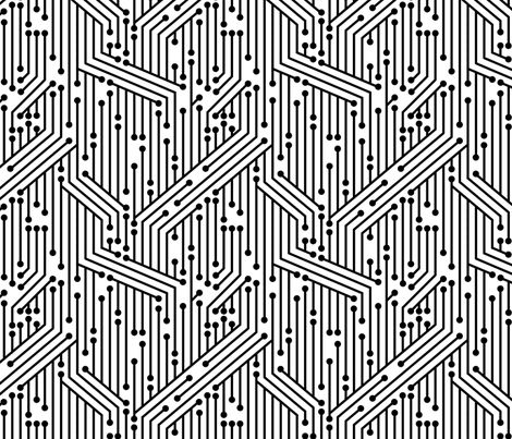Printed Circuit Board (B&W) fabric by leighr on Spoonflower - custom fabric