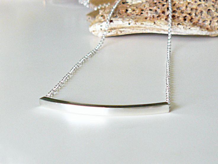 Silberkette mit quadratischem Röhrchen (mit Bildern