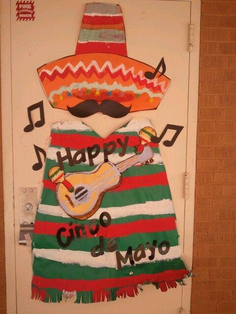 Our Cinco de Mayo door decoration!
