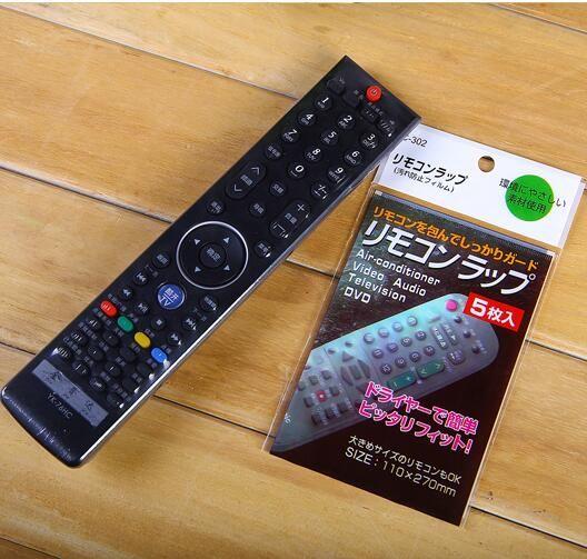 5 PCS Dalam Transparan Jelas TV AC remote control Penutup Pelindung Lengan Panas Menyusut Film Tahan Debu tahan air