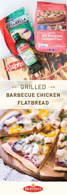 Need an assist when it comes to creating your football menu? Kroger Game Day Greats and this recipe for Grilled Barbecue Chicken Flatbread with Bertolli® Organic Extra Virgin Olive Oil are sure to help you tackle this tailgating dilemma. An appetizer featuring Italian spices, BBQ sauce, melty cheese, and rich olive oil—sign us up! Score all the ingredients and essentials you need for your football party at your local Kroger store.