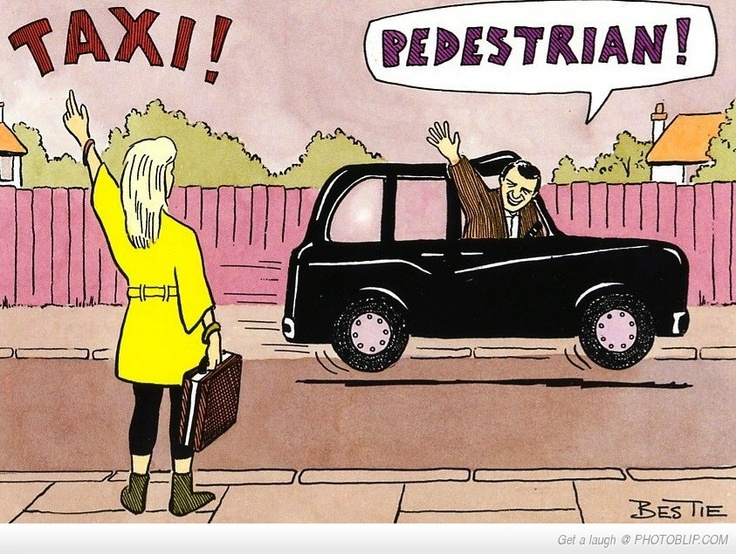 Haha! I seriously felt this way in New York...except instead of waving back, the cabs ignore you.