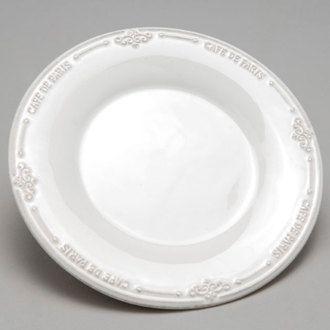 Assiette � dessert en dolomie - D. 21 cm SOUVENIR D'ANTAN en solde