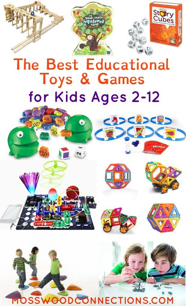 Educational Gifts for Kids Ages 2-12. Educational toys and games that are so much fun kids won't notice that they are learning, too! Games for reading, math, pretend, science!