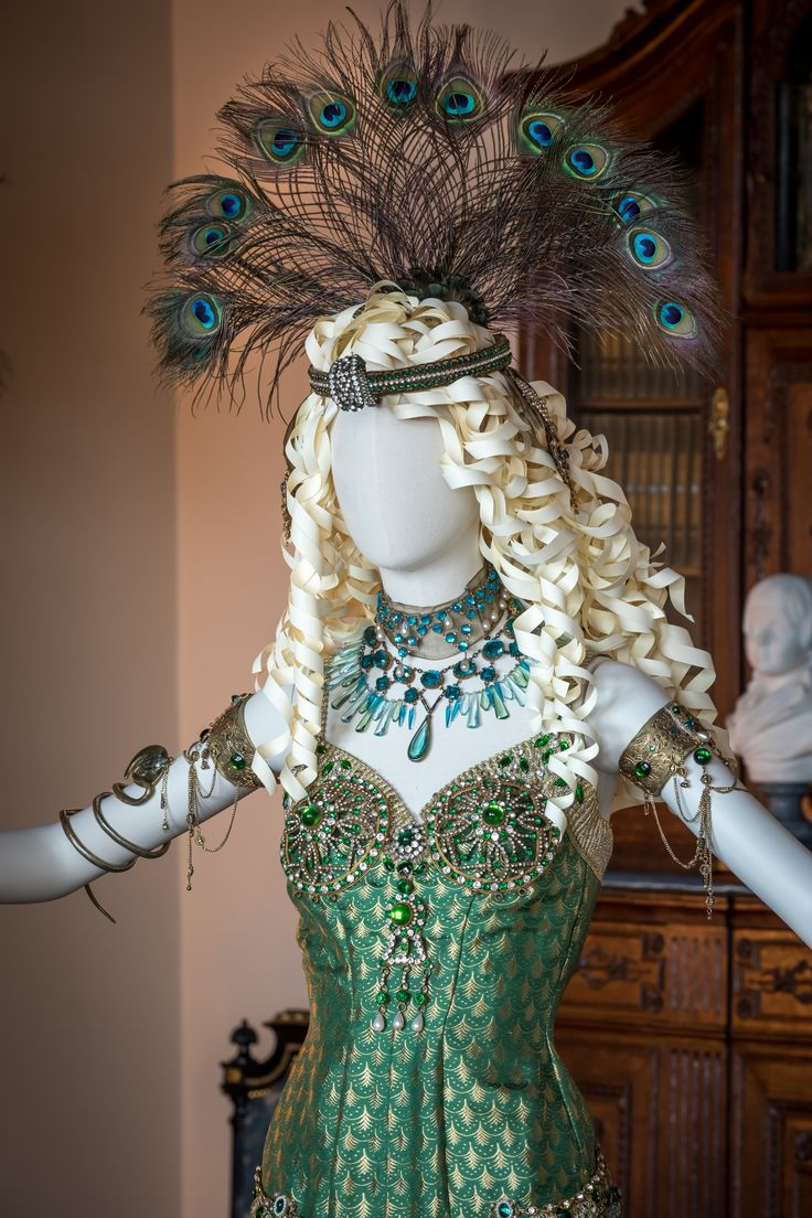 """On display through July 4, 2017 at Biltmore's """"Designed for Drama"""" exhibition, 40+ award winning movie costumes including this one worn by Uma Thurman in the 2000 film """"The Golden Bowl."""""""
