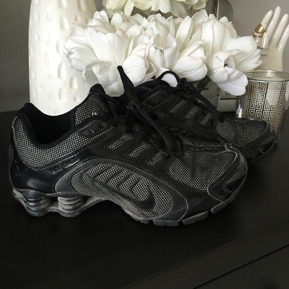 sports shoes 9aa37 8504b white nike shox with silver glitter swoosh