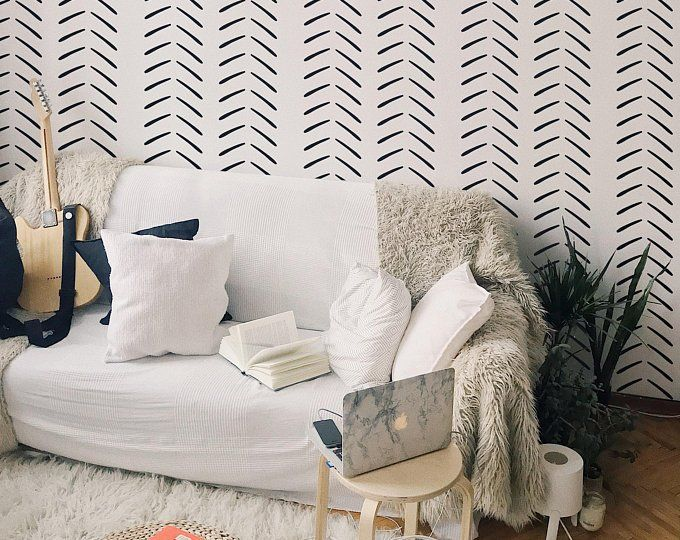 Etsy Your Place To Buy And Sell All Things Handmade Wallpaper Living Room Living Room Scandinavian Removable Wallpaper #removable #wallpaper #living #room