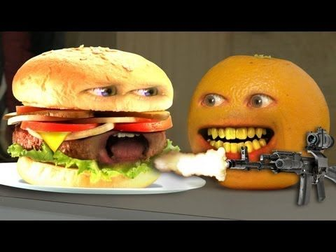 Annoying Orange - Monster Burger! (a couple of inappropriate words for classroom) Still funny!