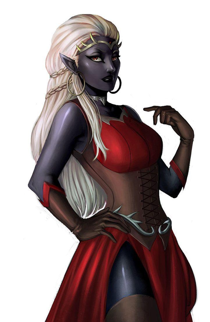 Commission: Drow queen by iara-art.deviantart.com on @DeviantArt