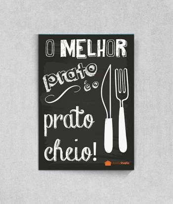 Poster O Melhor Prato é o Prato Cheio do Blog Panelaterapia