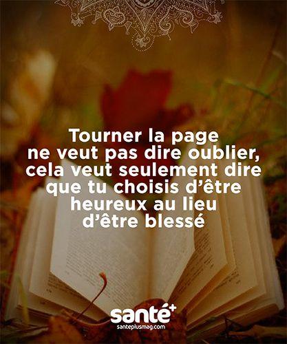 Tourner la page - Mes mots doux