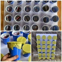 DIY Prize Punch... each one contains different hockey cards.  So much fun for a hockey party!