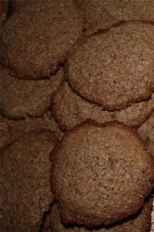 """Soetkoekies (""""soet"""" means """"sweet"""" and """"koekies"""", surprisingly, """"cookies"""") are traditional South African biscuits of Dutch origin. Made with port and almonds, these delicious treats take 10 minutes to cook."""
