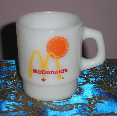 Vintage Fire King mug. MacDonald Canada.