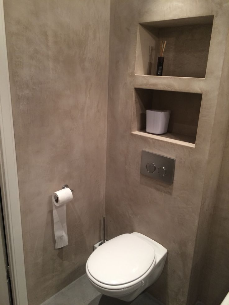 Bathroom in Heemstede, walls from luxury- walls.com (beal mortex).  Toilet V&B