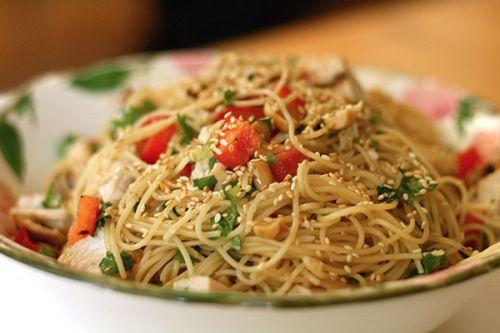 Sesame and cilantro vermicelli salad | recipies | Pinterest