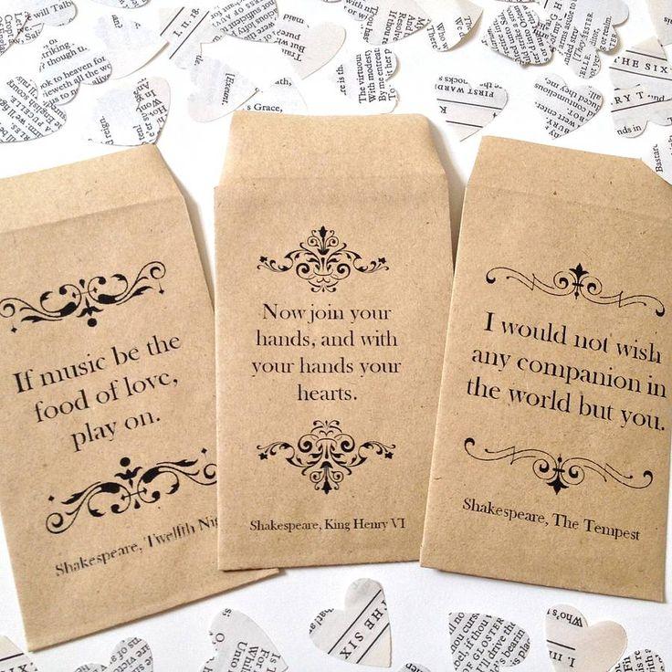 LOVE this!!! Shakespeare book confetti by literary emporium | notonthehighstreet.com
