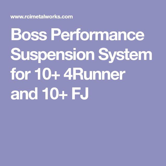 Boss Performance Suspension System for 10+ 4Runner and 10+ FJ