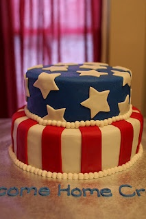 The Buttercream Bakery: Welcome Home Stars & Stripes Cake
