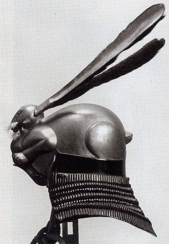 Japanese samurai Kabuto in the form of a rabbit