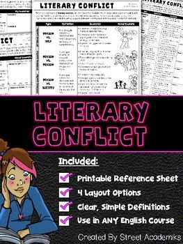 $2.00 - This is a great reference to provide students when discussing literary conflict.