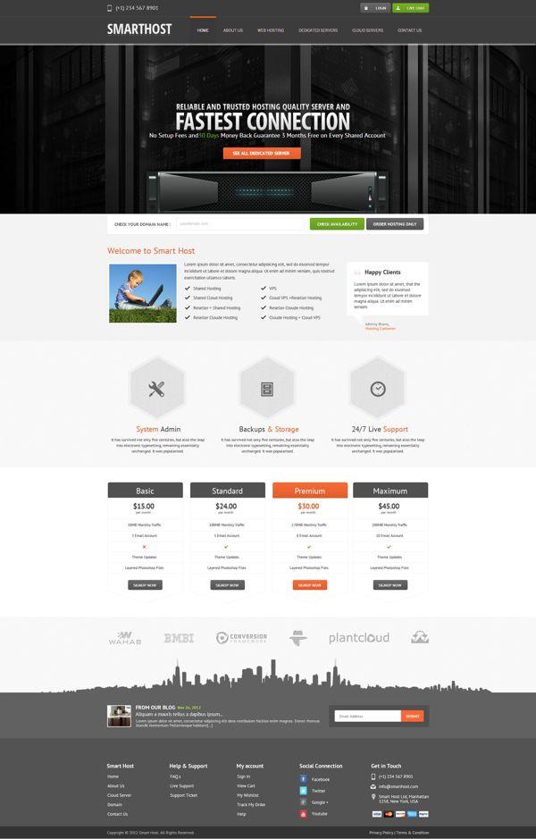 SmartHost website by Webatic , via Behance