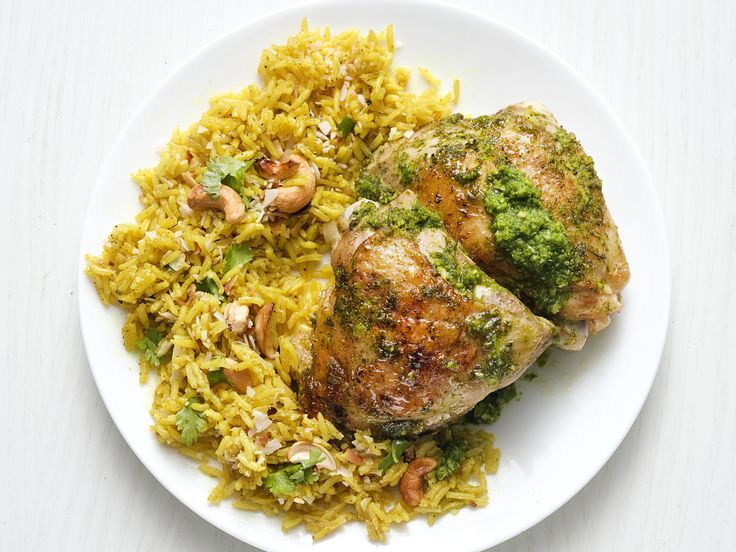 Get this all-star, easy-to-follow Indian Chicken with Cashew Rice recipe from Food Network Kitchen