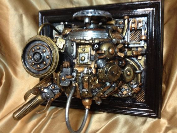 Steampunk Engine 3D Picture Wall Frame