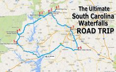 South Carolina Waterfalls. And other stuff to see in different states!