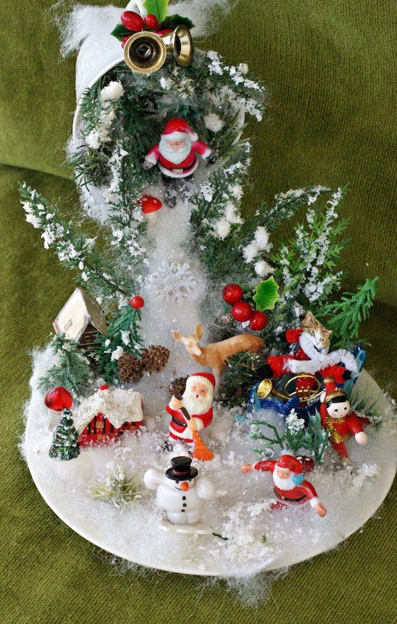 Santa Decor Snow Ornament Christmas Table Decor Christmas