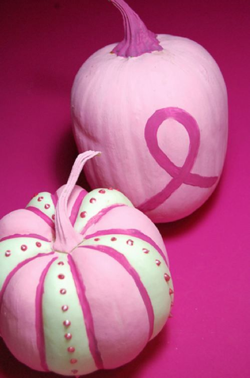 Breast Cancer Awareness Pumpkins! I think i will be doing this! I could even put Auntie's name on this since she is a survivor!!