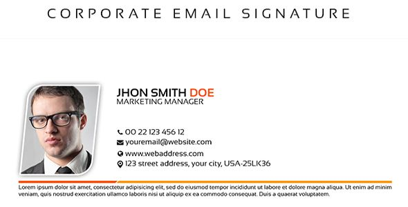 Corporate Email Signature - http://www.codegrape.com/item/corporate-email-signature/5849