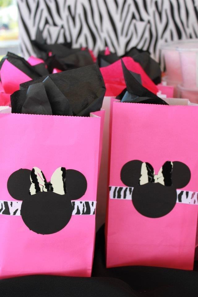 Treat bags zebra Minnie Mouse created by me Minnie