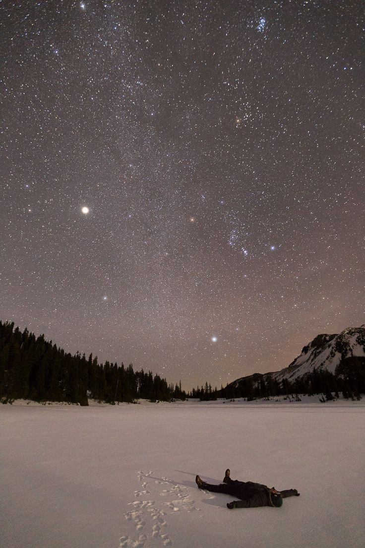 Jupiter lighting up the winter sky, Jefferson Park, Oregon, 1/4/2014