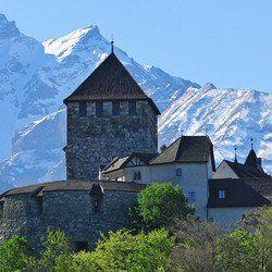 Schloss Vaduz im Fürstentum Liechtenstein in der Nähe vom Bodensee