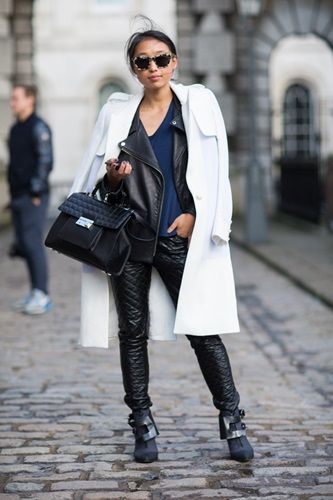 But two jackets?  - Streetstyle fra London Fashion Week