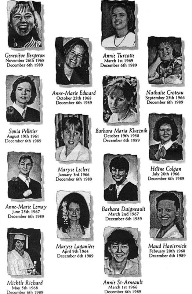 Today, in 1989, 14 women were killed at L'École Polytechnique de Montreal because they were