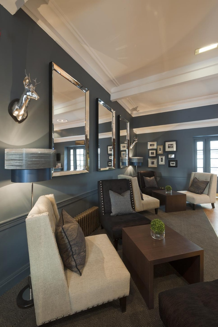 The Roxburghe Hotel Edinburgh A Stylish Grey Blue Lounging Space By Glasgow Based Interior