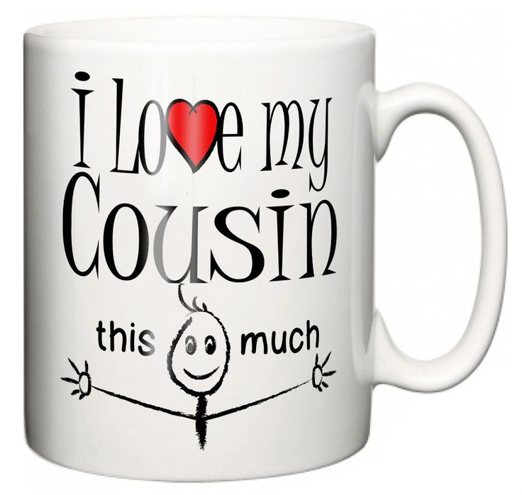 """""""I Love My Cousin This Much"""" Mug Christmas Gift Stocking Filler"""