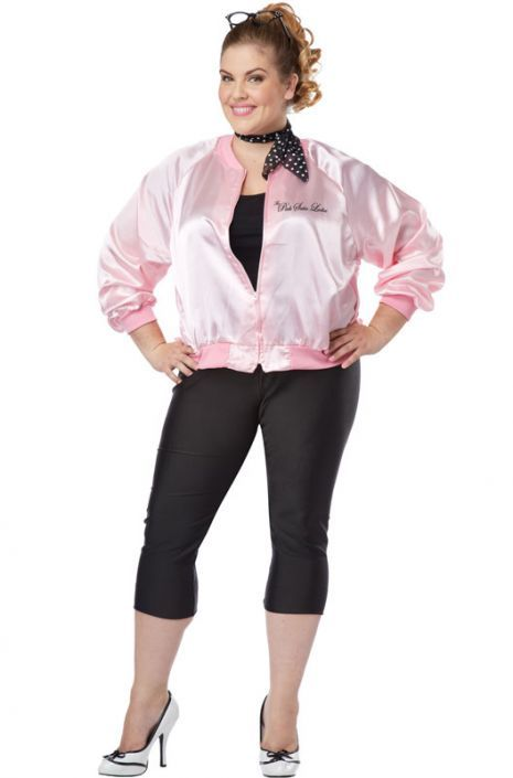 The Pink Satin Ladies Plus Size Costume